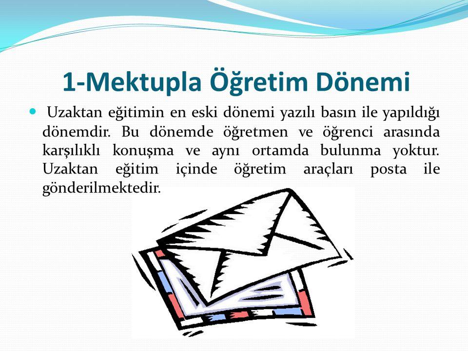 1-Mektupla Öğretim Dönemi