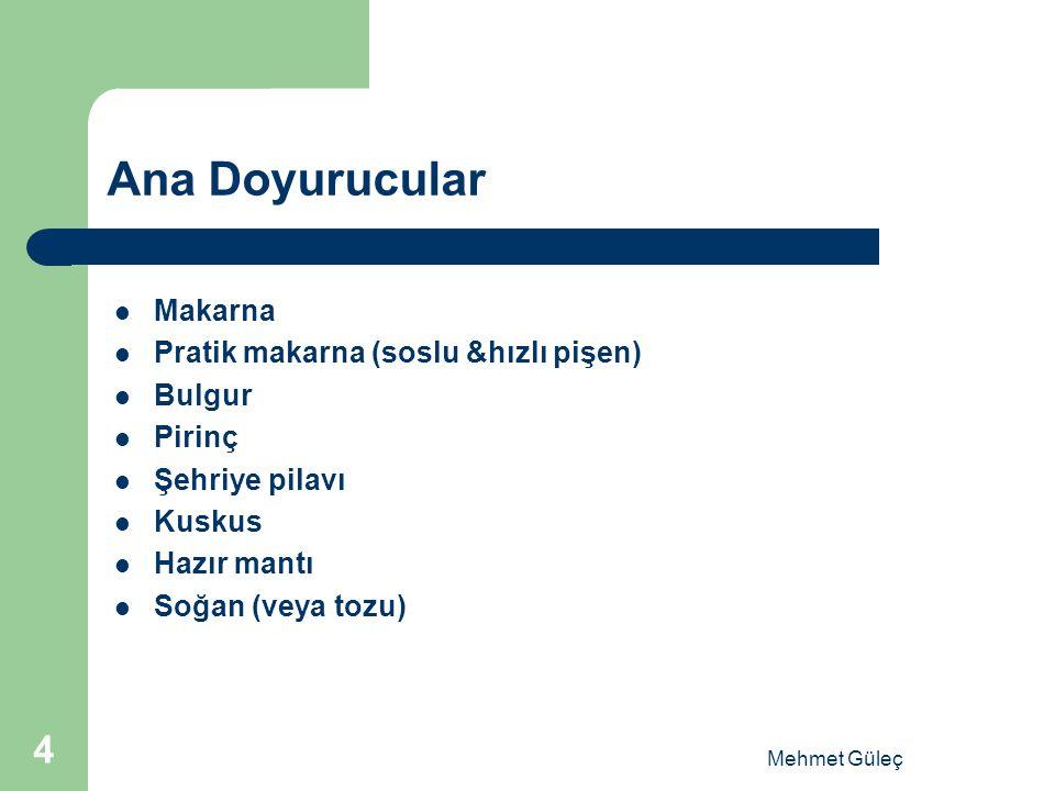 Ana Doyurucular Makarna Pratik makarna (soslu &hızlı pişen) Bulgur