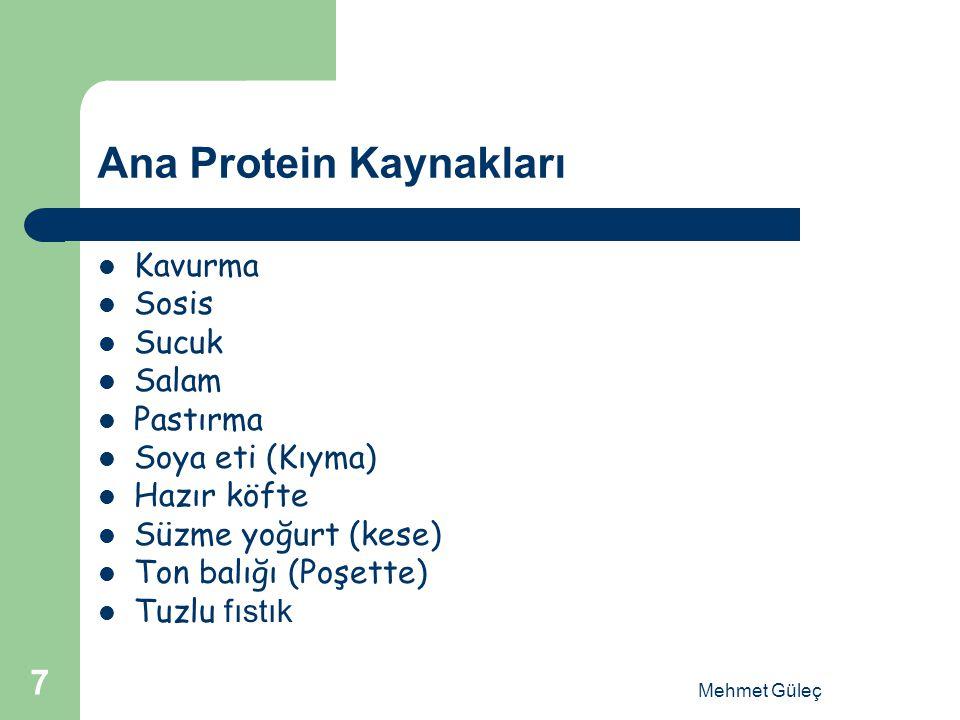 Ana Protein Kaynakları