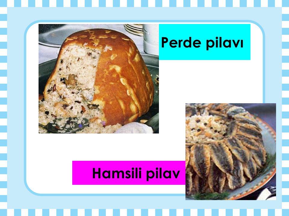Perde pilavı Hamsili pilav