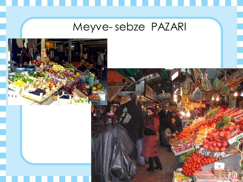Meyve- sebze PAZARI