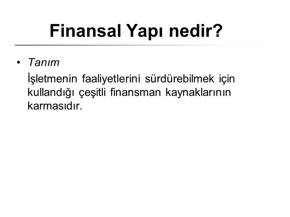 Finansal Yapı nedir Tanım