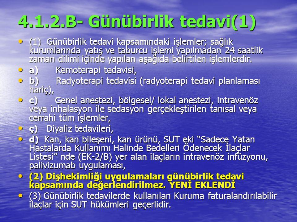 4.1.2.B- Günübirlik tedavi(1)