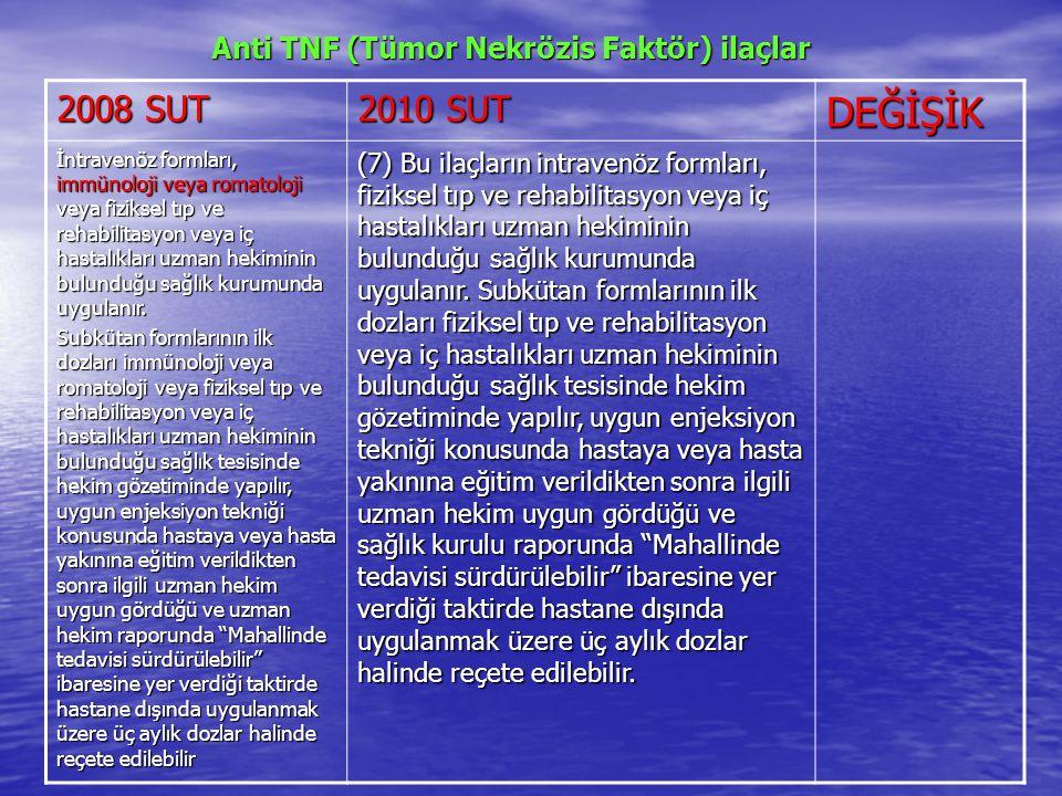 Anti TNF (Tümor Nekrözis Faktör) ilaçlar
