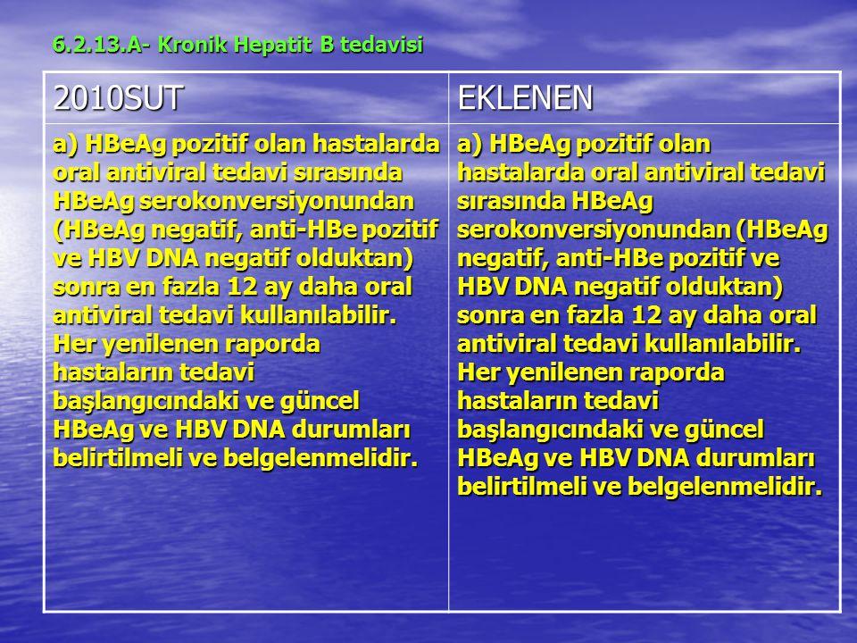 6.2.13.A- Kronik Hepatit B tedavisi
