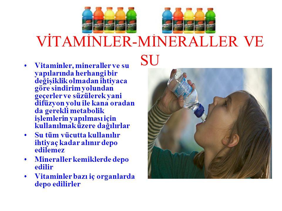 VİTAMİNLER-MİNERALLER VE SU