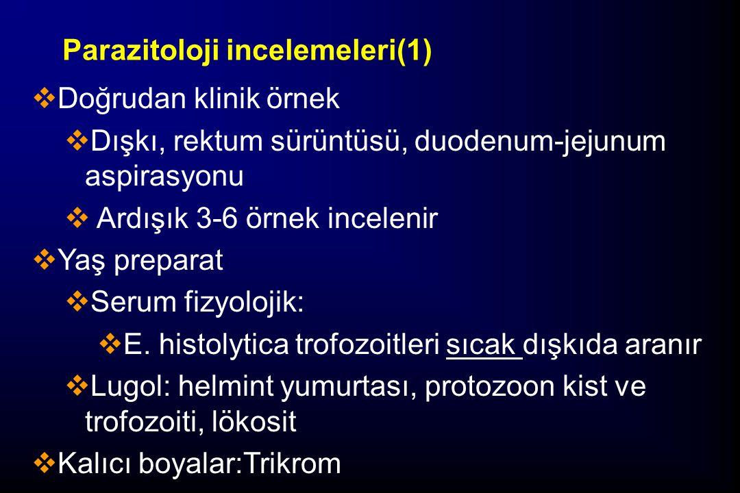 Parazitoloji incelemeleri(1)