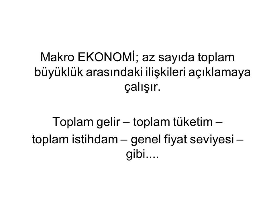 Toplam gelir – toplam tüketim –