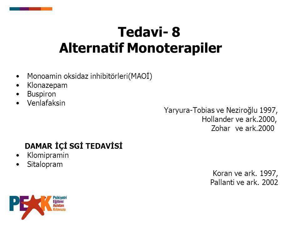 Tedavi- 8 Alternatif Monoterapiler