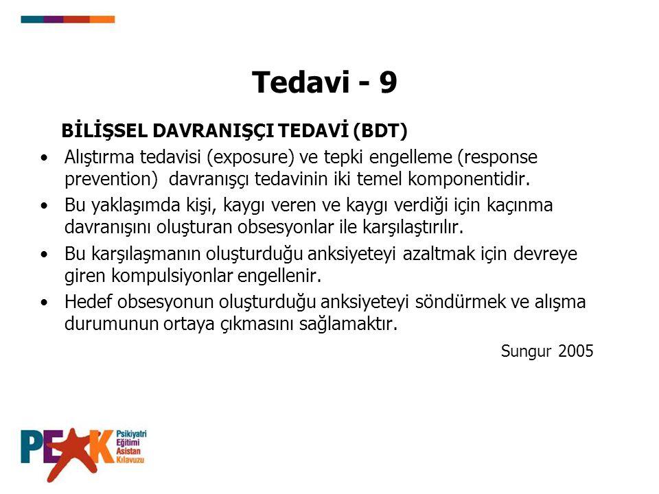 Tedavi - 9 BİLİŞSEL DAVRANIŞÇI TEDAVİ (BDT)