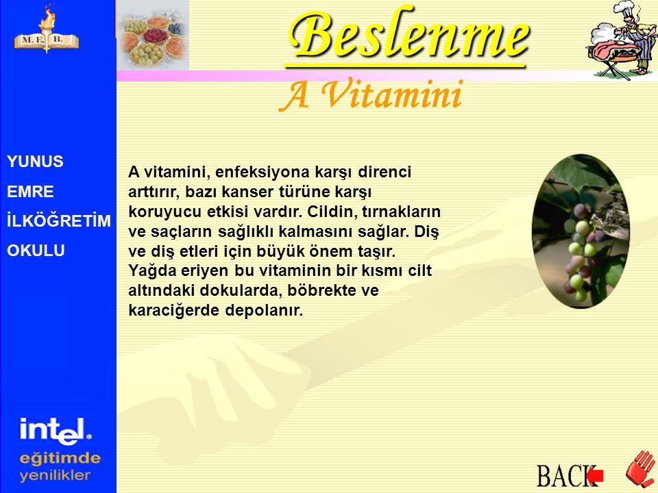 Beslenme A Vitamini YUNUS EMRE