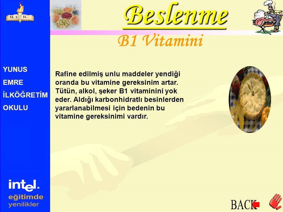 Beslenme B1 Vitamini YUNUS EMRE