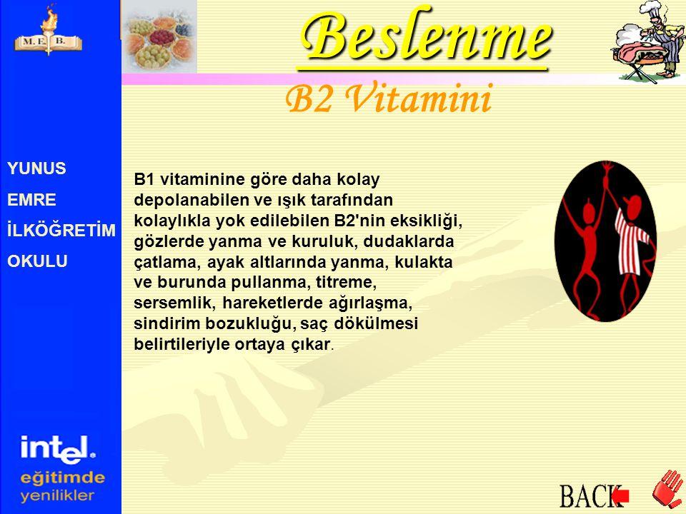 Beslenme B2 Vitamini YUNUS EMRE