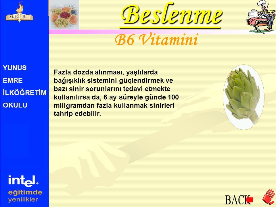 Beslenme B6 Vitamini YUNUS EMRE