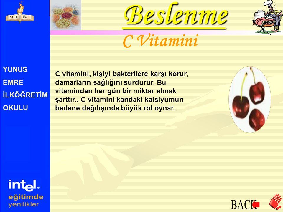 Beslenme C Vitamini YUNUS EMRE