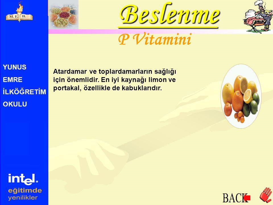 Beslenme P Vitamini YUNUS EMRE