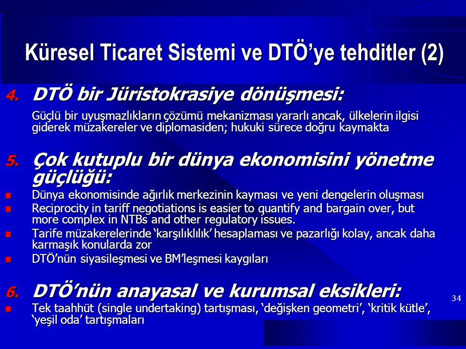 Küresel Ticaret Sistemi ve DTÖ'ye tehditler (2)