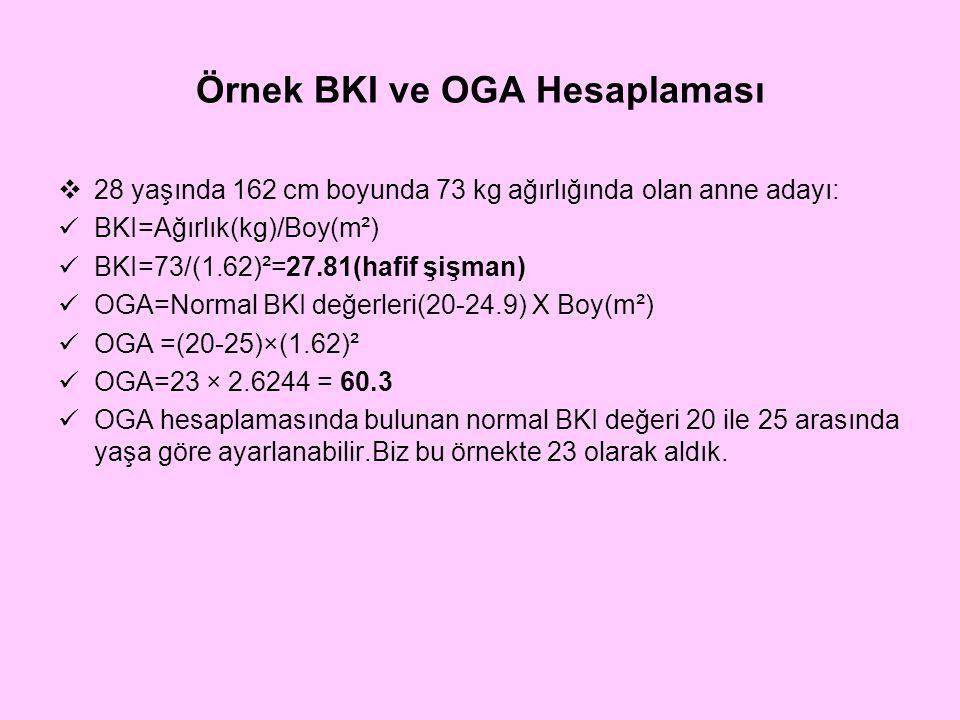 Örnek BKI ve OGA Hesaplaması