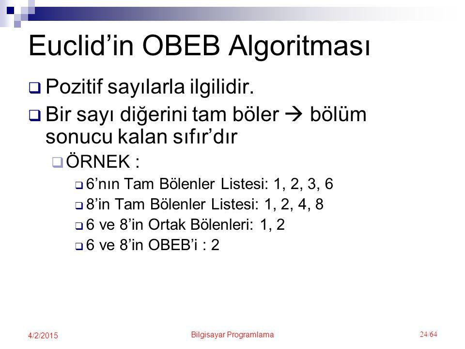 Euclid'in OBEB Algoritması