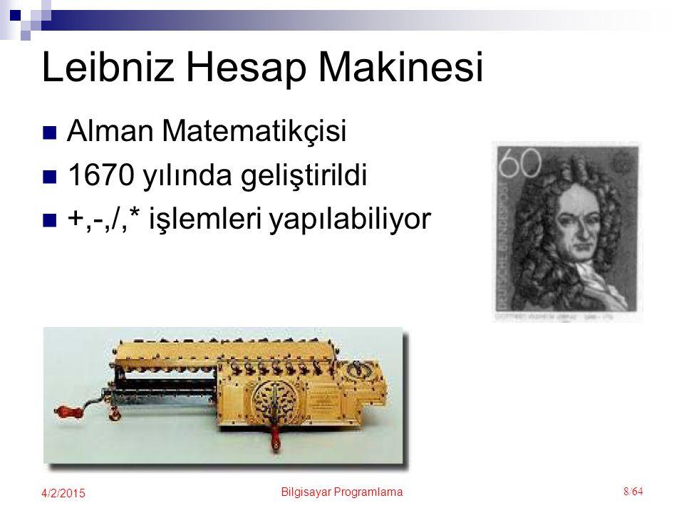 Leibniz Hesap Makinesi