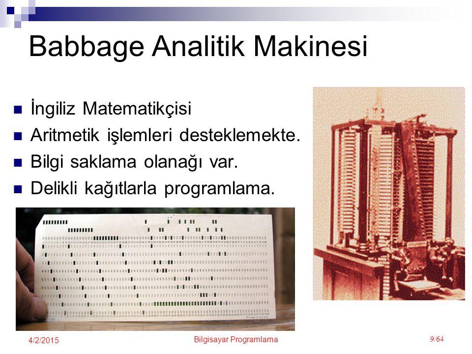 Babbage Analitik Makinesi
