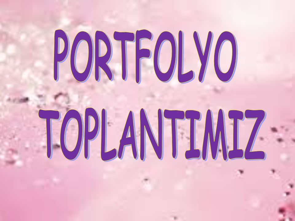 PORTFOLYO TOPLANTIMIZ