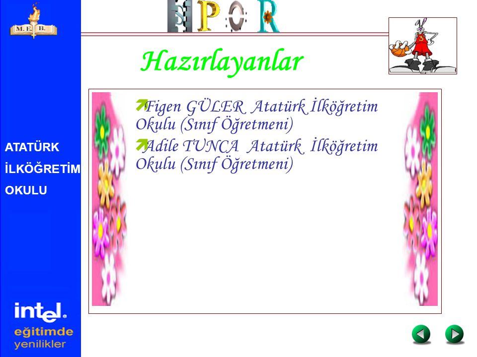 Hazırlayanlar Figen GÜLER Atatürk İlköğretim Okulu (Sınıf Öğretmeni)