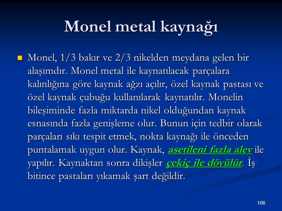 Monel metal kaynağı