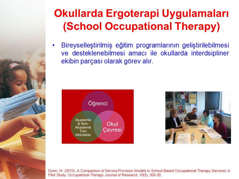 Okullarda Ergoterapi Uygulamaları (School Occupational Therapy)
