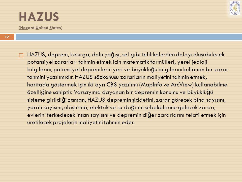 HAZUS (Hazard United States)