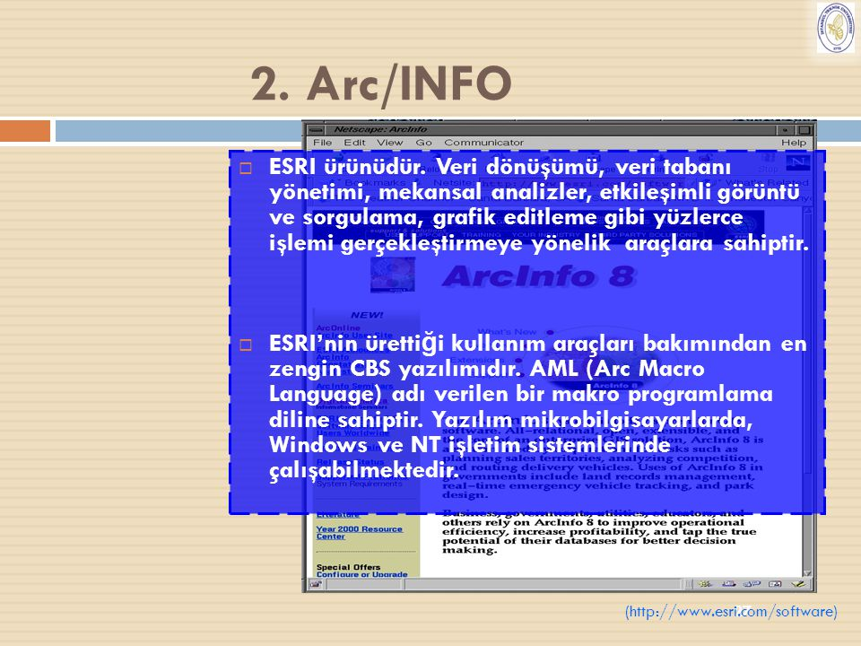 2. Arc/INFO