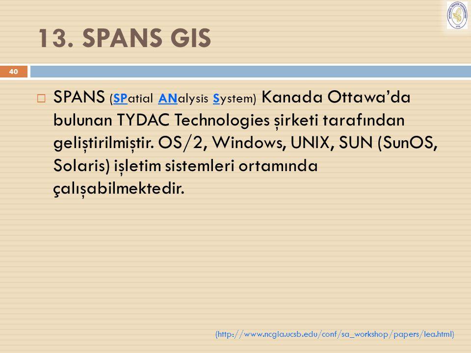 13. SPANS GIS