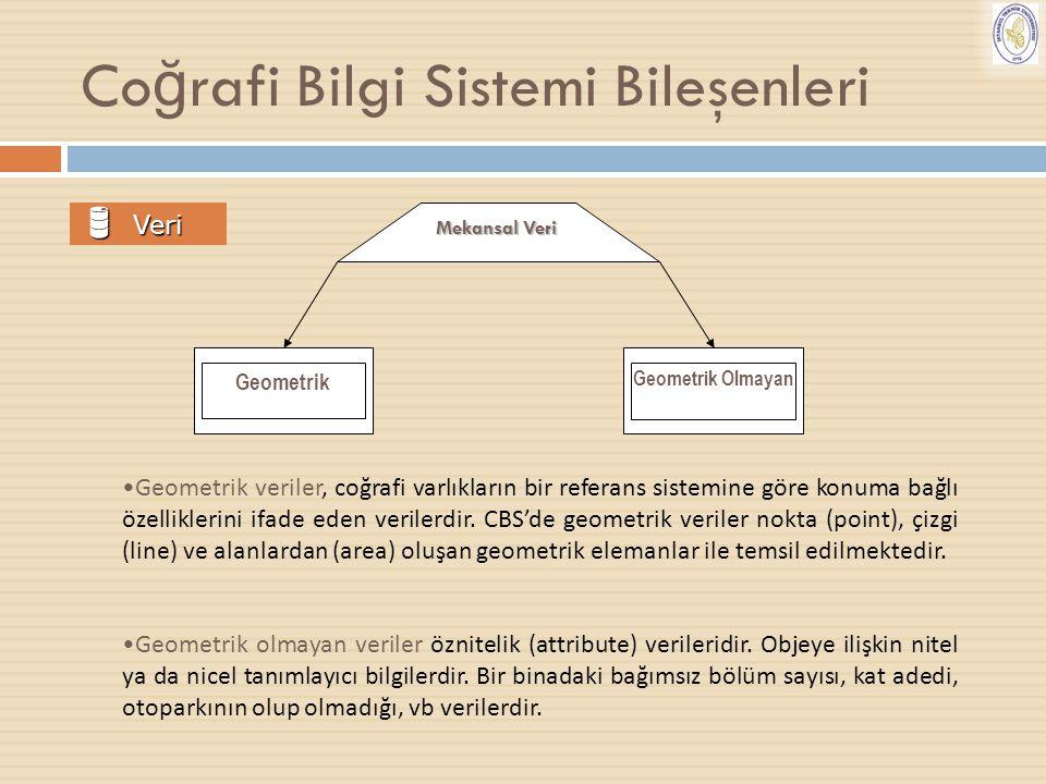 Coğrafi Bilgi Sistemi Bileşenleri