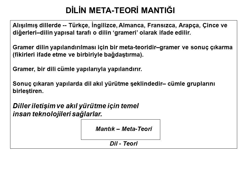 DİLİN META-TEORİ MANTIĞI