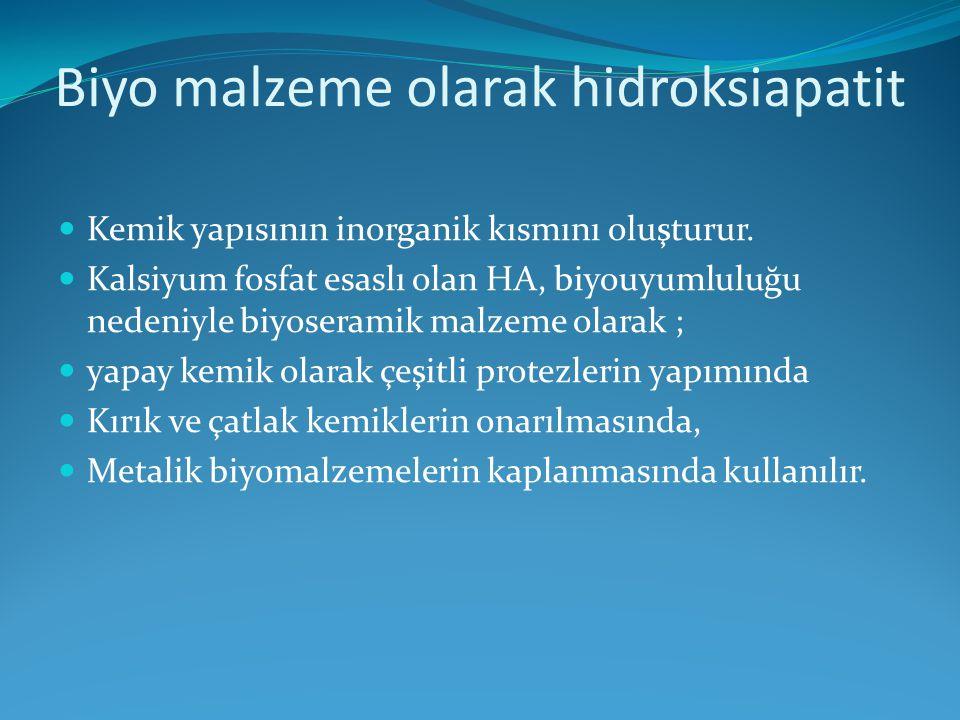 Biyo malzeme olarak hidroksiapatit