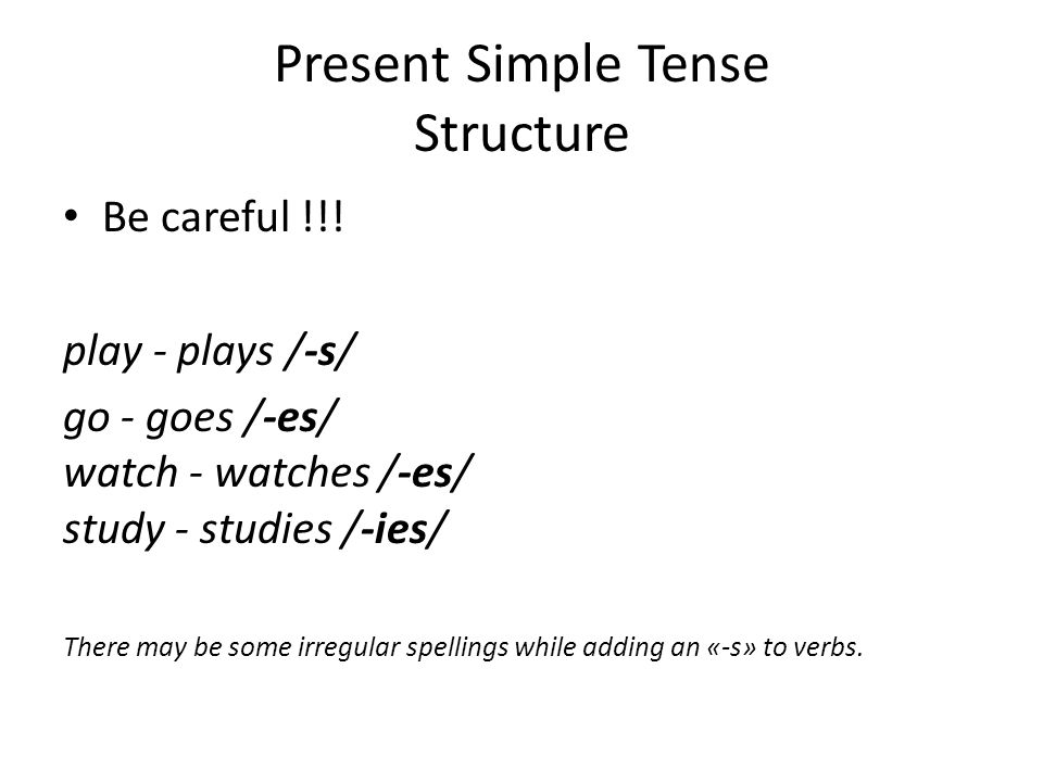 Present Simple Tense Structure