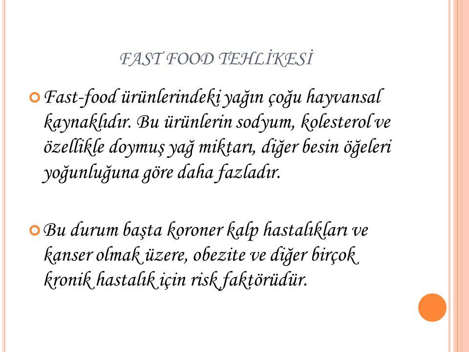 FAST FOOD TEHLİKESİ