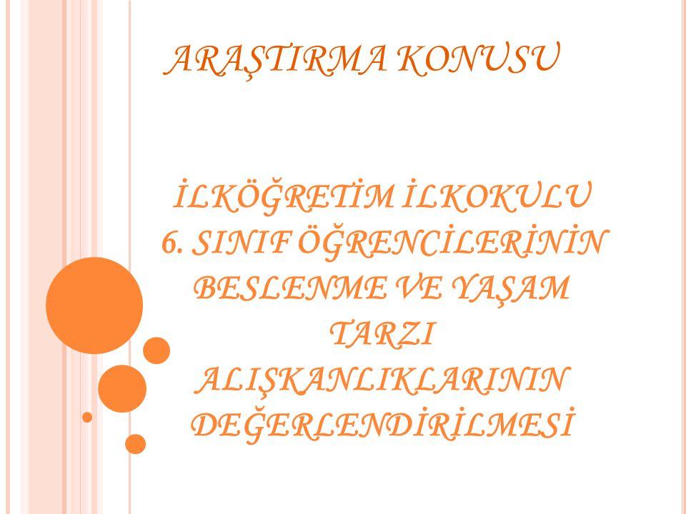 ARAŞTIRMA KONUSU İLKÖĞRETİM İLKOKULU 6.