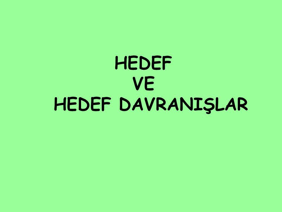 HEDEF VE HEDEF DAVRANIŞLAR