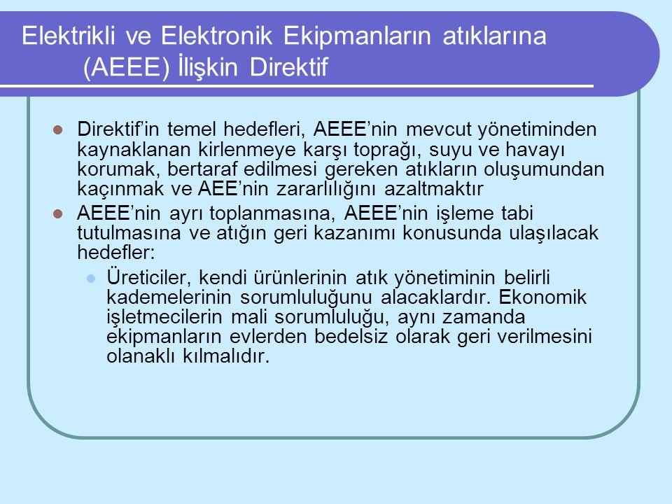 Elektrikli ve Elektronik Ekipmanların atıklarına (AEEE) İlişkin Direktif