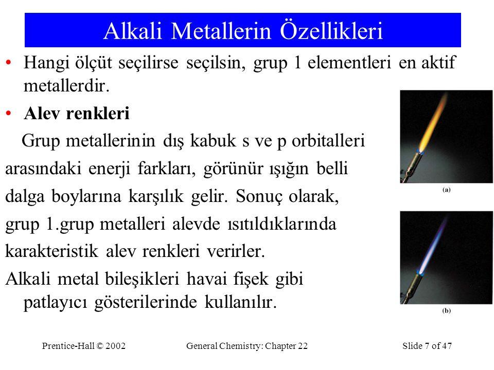 Alkali Metallerin Özellikleri