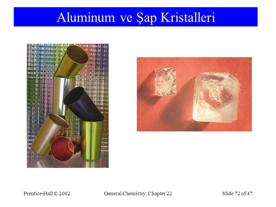Aluminum ve Şap Kristalleri