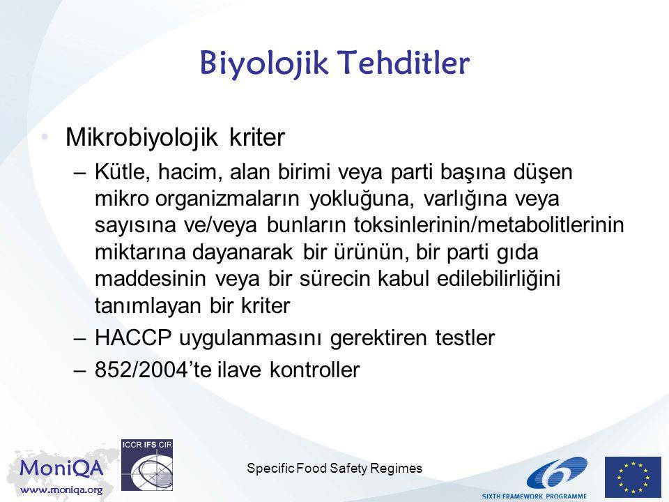 Specific Food Safety Regimes