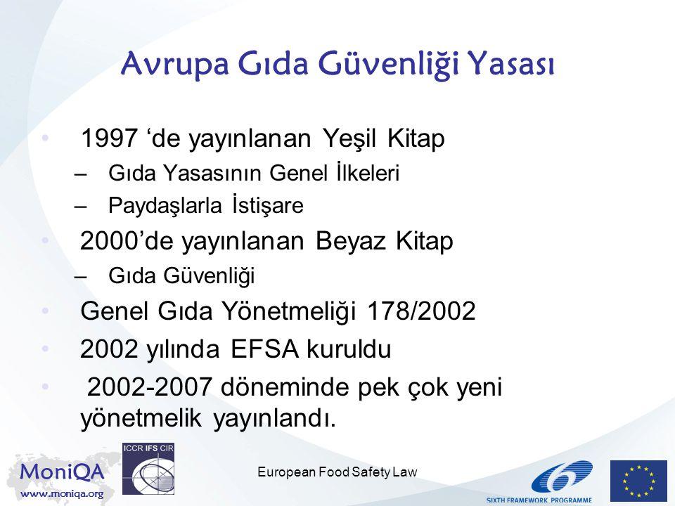 Avrupa Gıda Güvenliği Yasası