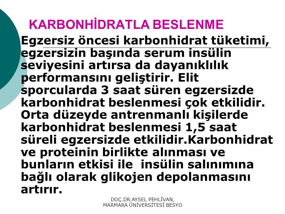 KARBONHİDRATLA BESLENME