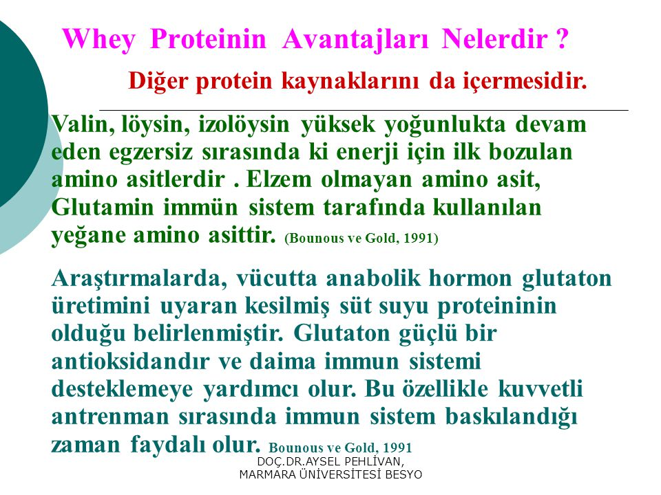 Whey Proteinin Avantajları Nelerdir