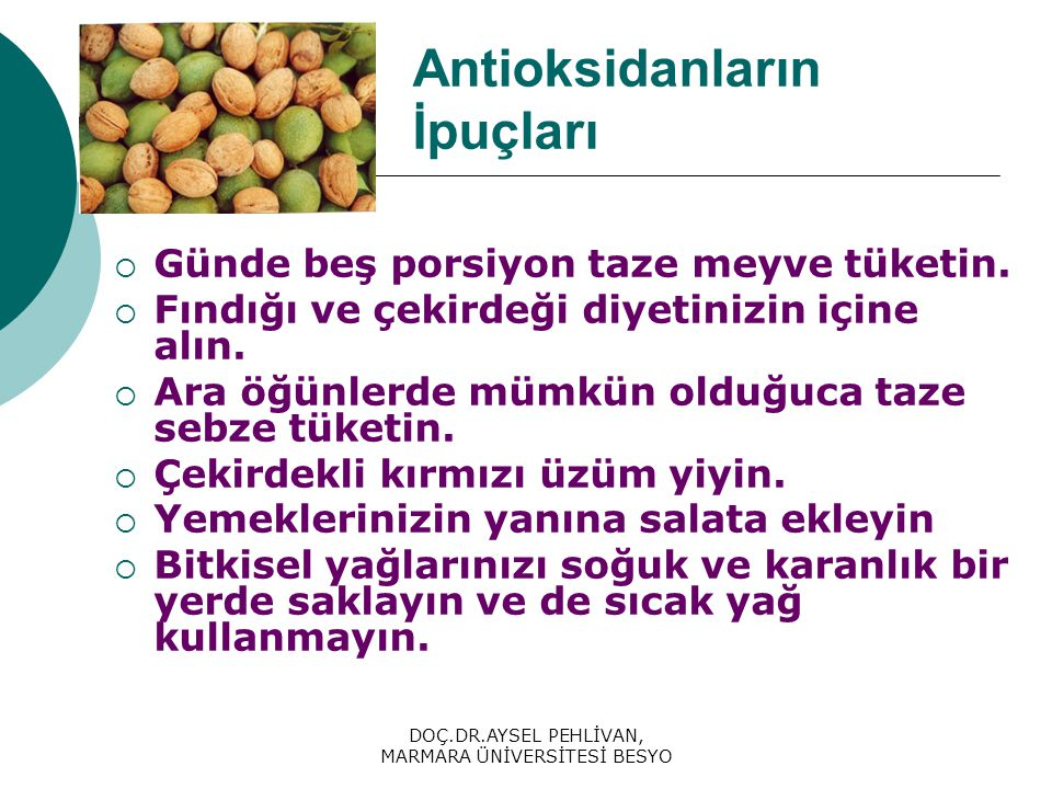 Antioksidanların İpuçları