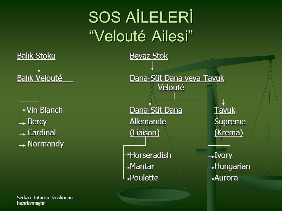 SOS AİLELERİ Velouté Ailesi