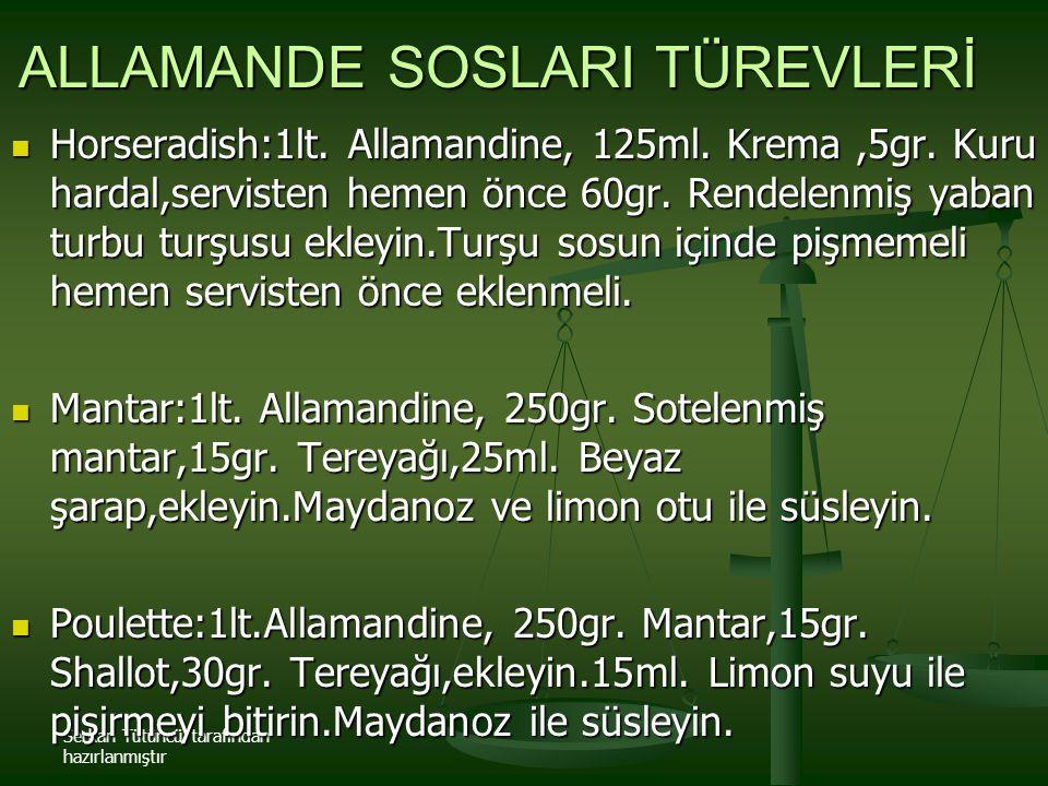 ALLAMANDE SOSLARI TÜREVLERİ
