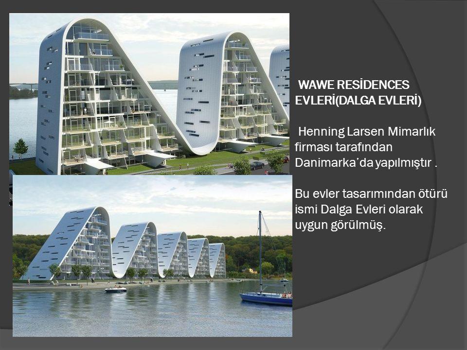 WAWE RESİDENCES EVLERİ(DALGA EVLERİ) Henning Larsen Mimarlık firması tarafından Danimarka'da yapılmıştır .